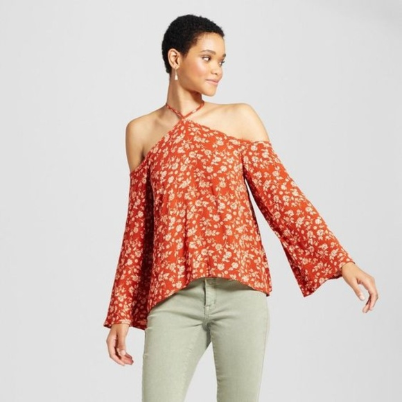 05be8348 Mossimo Supply Co. Tops | New Yneck Cold Shoulder Peasant Top Nwt A9 ...